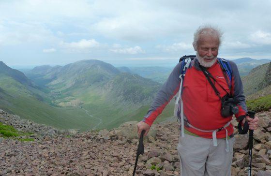 Sir Chris Bonington walking in the Lake District